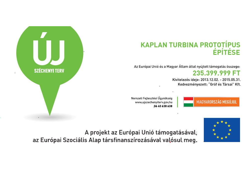 Kaplan turbina prototípus építése